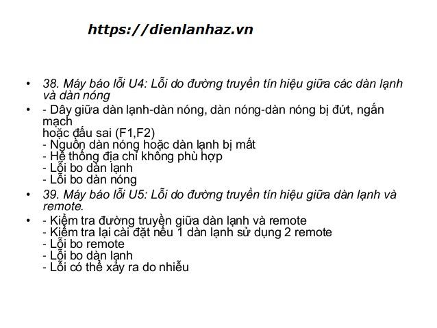 may dieu hoa daikin nhap nhay den bao loi u4, u5