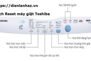 Cách RESET Máy Giặt Toshiba Báo E74, E71 Bạn Cũng Tự Làm Được